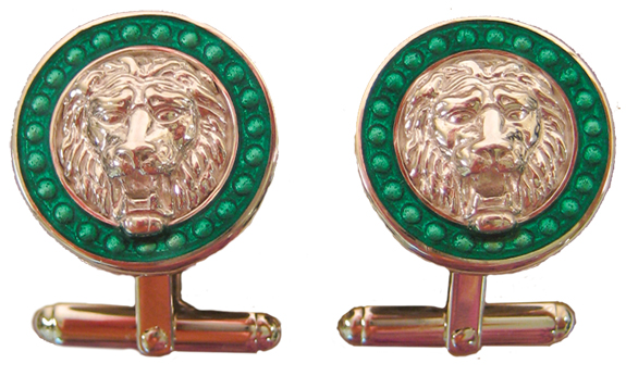 Lion Head Sterling Silver Cufflinks