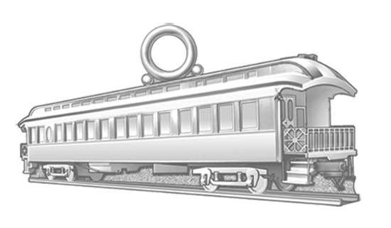 Railcar Sterling Silver Charm