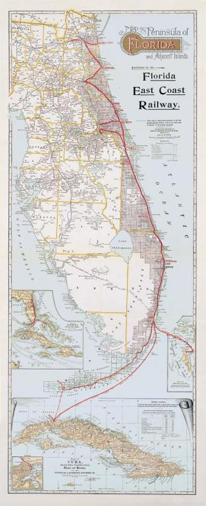 Map Florida East Coast.Florida East Coast Railway Map