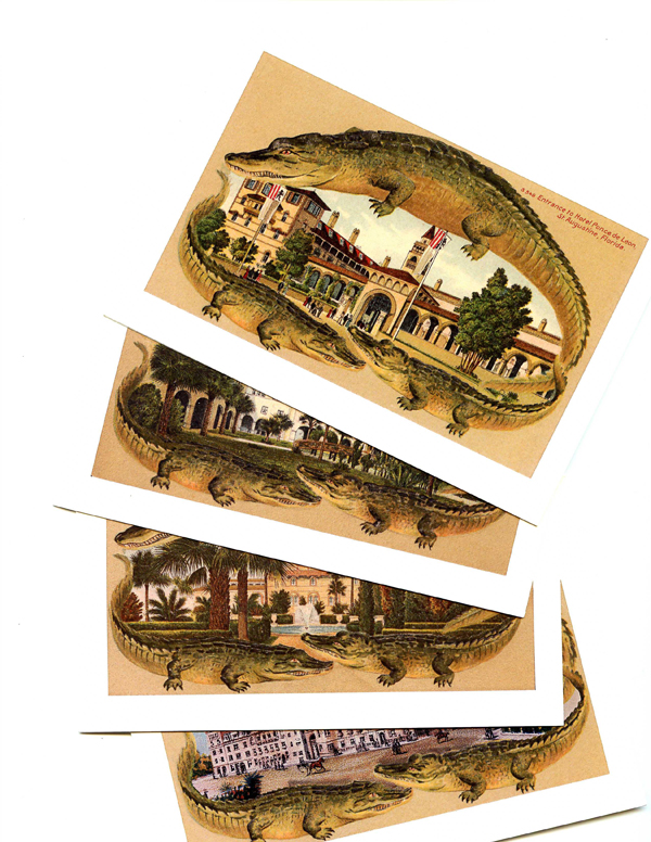 Postcard Note Cards of St. Augustine Hotels