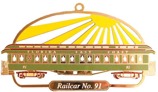 Railcar No. 91 Ornament