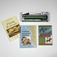 Florida Railroad History Book Collection with model Railcar No. 91